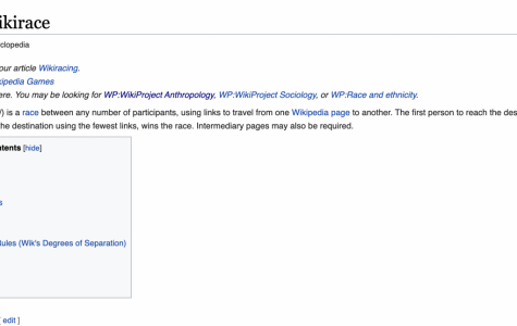The Wikipedia page for Wikirace explains what a Wikirace is and the rules for racing.