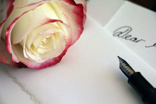 Students can write a note to the recipient of their rose or roses for Valentine's Day