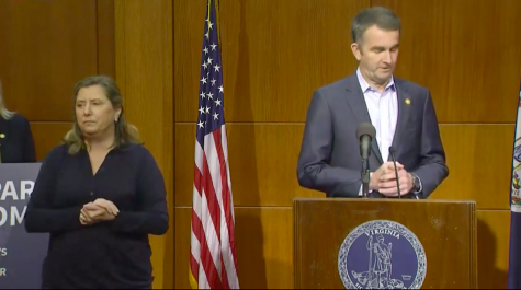 Virginia governor Ralph Northam addresses coronavirus updates on March 23. Screenshot of YouTube live stream of Governor Ralph Northam