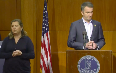 Virginia governor Ralph Northam addresses coronavirus updates on March 23. Screenshot of YouTube live stream of Governor Ralph Northam's March 23 press conference.