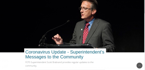 The FCPS website set up a page to host superintendent Dr. Scott Brabrand's announcements early on in the coronavirus outbreak. It includes messages from January 28 and March 2 forward.