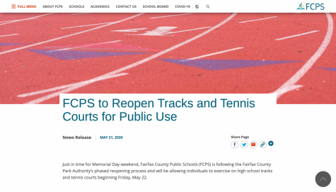 FCPS reopens tracks and tennis courts