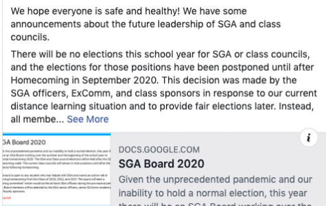 "A Facebook post about election format change posted by Jefferson's Student Government Association. ""The new change is going to have some difficulties, but I am confident that the Jefferson students will not be disappointed with homecoming and the other school events,"" SGA Treasurer Sean Nguyen said."