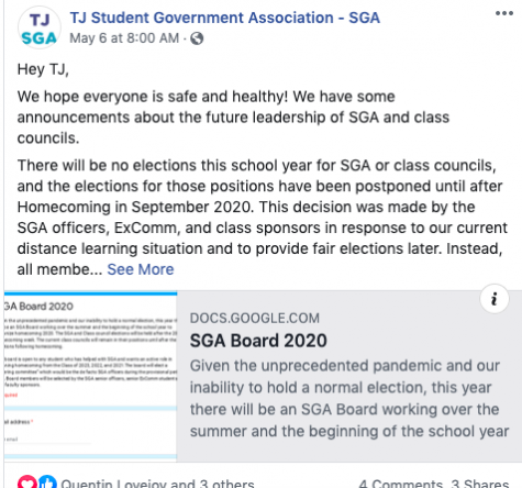 SGA postpones election amid COVID-19 pandemic
