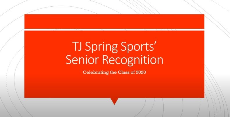 Recognition video celebrates spring sports seniors