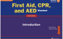 "The online course from the Emergency Care and Safety Institute (ECSI) for learning CPR, AED, and first aid as required by the state. There are 7 modules which freshmen must complete as well as a ten question test as opposed to the hands-on experience students would get in a regular school year. ""Under normal circumstances, the way I teach this at school is to cover a module, and then go into the hands on or lab portion of the course. This is where students will practice the proper way to apply a sling, provide direct pressure for bleeding wounds, or learn how to put a splint on a broken arm, or leg, along with additional topics,"" health and P.E. teacher Mr. Barry Potoker said."