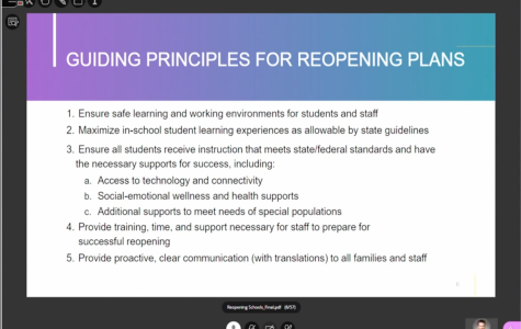 Fairfax County Public School Boards had a virtual meeting over BlackBoard Collaborate to discuss school reopening plans.