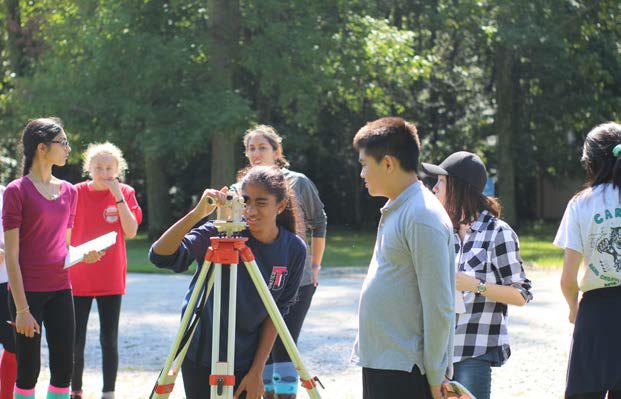 Squinting, freshman Neha Balaji surveys the land