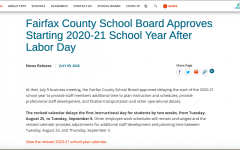 After its school board meeting on July 10, FCPS announced the delay of the school year by two weeks.