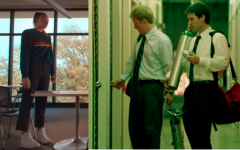 "Left: ""Tall Girl"" main character Judi played by Ava Michelle. Right: ""Primer"" main characters Aaron and Abe played by Shane Carruth and David Sullivan respectively."
