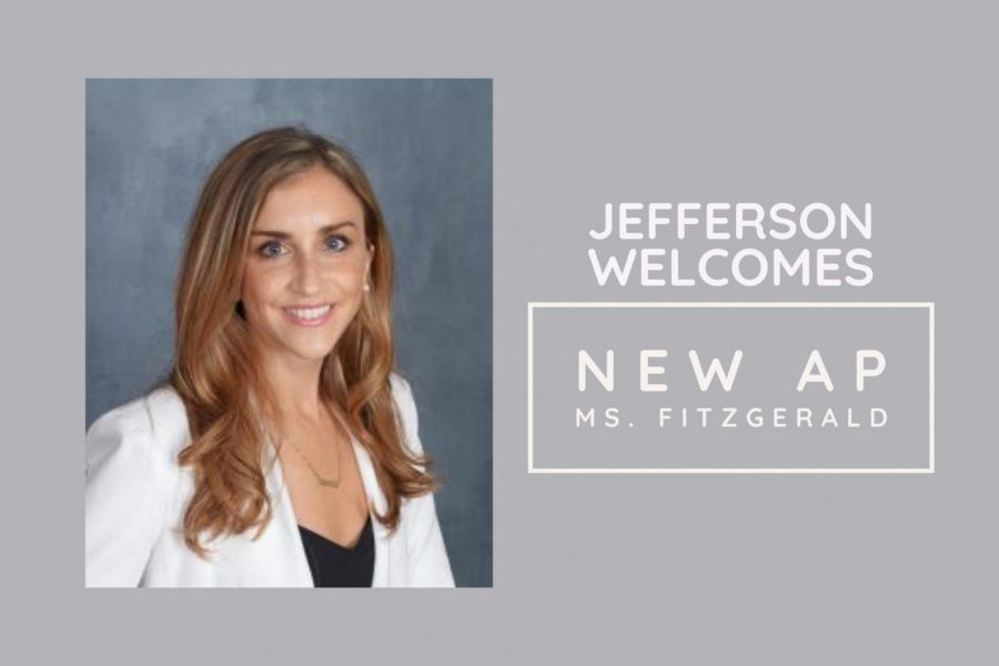 Jefferson%27s+newest+administrator%2C+Ms.+Laura+Fitzgerald%2C+will+direct+the+Class+of+2023+and+other+departments.