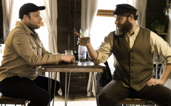 "Seth Rogen has a heated conversation with Seth Rogen about seltzer water in ""An American Pickle"". Image courtesy of IMDb."
