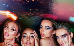 """Above is the album cover for British girl group Little Mix's sixth studio album, """"Confetti,"""" released on November 6. The members, Jesy Nelson, Leigh-Anne Pinnock, Jade Thirwall, and Perrie Edwards, are shown from left to right. """"Confetti"""" is the first album Little Mix have released since their split from their previous label, Syco Music."""
