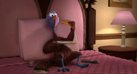 "Reggie the Turkey in ""Free Birds""."