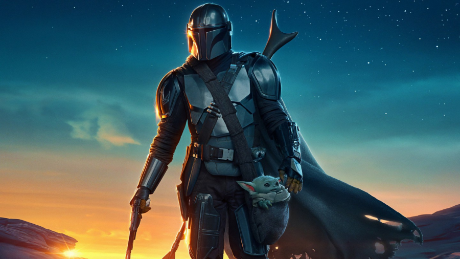 "The main art for the new season of Disney's ""The Mandalorian"" features the protagonist walking with his adorable sidekick."
