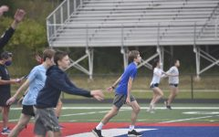 """Jefferson Track & Field athletes warm up during their socially distanced practice. """"I cannot wait to get back to competing,"""" junior Ignacio Toro said. """"It is a lot more fun trying to reach your goals when you have people there to motivate you."""""""