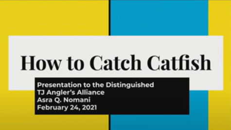 "Asra Nomani delivered a presentation she created on catfishing during the club meeting. ""You've got to ask so many questions, because it"