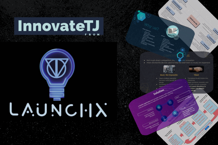 Teams+pitched+original+products+to+judges+and+listened+to+guest+speaker+lectures+at+LaunchX%E2%80%99s+InnovateTJ+competition+on+Saturday%2C+February+20th.
