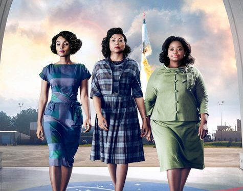"From left to right are Mary Jackson, Katherine Johnson, and Dorothy Vaughan—characters in the movie ""Hidden Figures,"" played by Janelle Monáe, Taraji P. Henson, and Octavia Spencer, respectively. The trio serve as a team at NASA, helping to complete one of the greatest space operations in history."