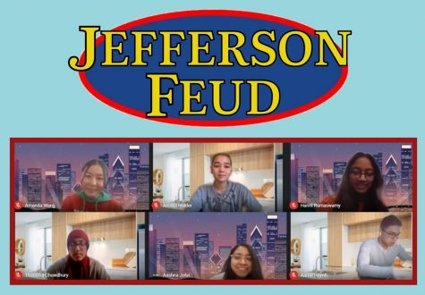 "For the final match of Jefferson Feud, the class council live streamed the round through Facebook. Many students cheered on their favorite team and discussed the players' answers through the comments. ""I'm glad that everyone could watch the game with us,"" freshman Annika Holder said."