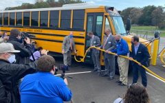 On October 27, 2020, officials from Thomas Built Buses, Dominion Energy, and dealer Sonny Merryman presented one of Virginia's first electric school buses as part of the initiative.