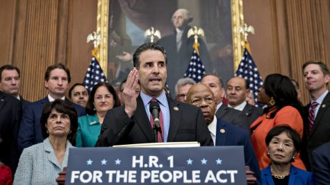 Representative John Sarbanes (D-MD) introducing the For The People Act at the Capitol. The main goal of Un-PAC is to pass the For The People Act.