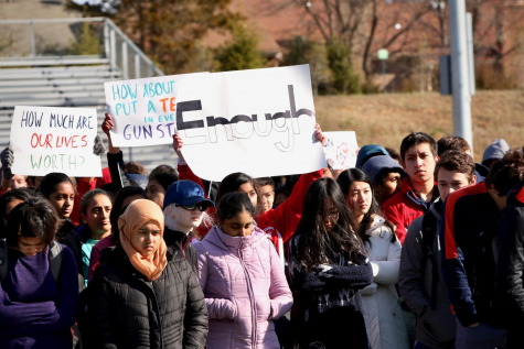 Jefferson students participate in a walkout for gun control during school on March 14, 2018. Their rights to free speech and assembly were protected by the 1969 Tinker v. Des Moines ruling.
