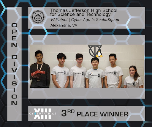 "Jefferson's winning CyberPatriot team, ""VAPatriot 