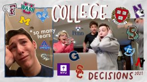 College decision reaction videos capture the emotional responses of high school seniors as they open their college decisions, the majority of which are from highly selective schools. These videos are extremely popular and can garner over a million views, showing how the infatuation with prestige extends far beyond students.