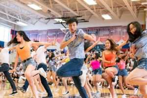 "Students in the Class of 2020 dance in the 2019 Musical Extravaganza (MEX). Groups of 25 students in each class will perform at the pep rallies this year. ""As [one of the] choreographers [I] find it important that we are there for our class and prepared to bring us all together,"" freshman Ananya Enganti said."