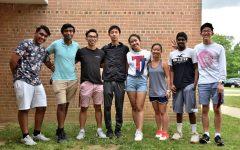The old and new SGA administration standing together from left to right: Rushil Umaretiya, Bhaswith Suresh, Sean Nguyen, Leon Jia, Tiffany Ji, Yeefay Li, Vibhav Kuriti, and Jordan Lee.