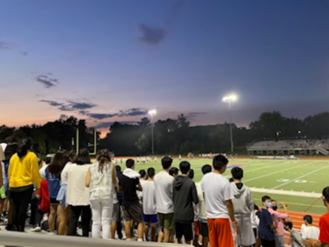 """Students attend a Jefferson football game in the freshmen's spirit video, signifying a new sense of solidarity for the class. The video's overall theme was """"Dare to Dream."""" Photo courtesy of the Class of 2025 Spirit Video team."""