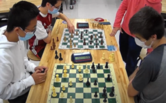 Defending champion, senior Andy Huang plays against Geoffrey Davis in the semifinals. They already have claimed victory for the seniors, and are now duking it out as a formality to see if Huang can hold his title as reigning champion.