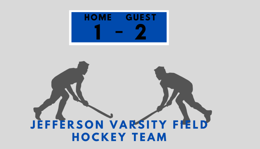 Jeffersons varsity field hockey team played against Justice High School on Oct. 12. The final score was 1-2.