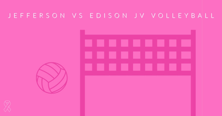 Jeffersons JV volleyball team played against Edison in their annual Dig Pink game.