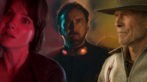 Annabelle Wallis (on the left), Nicolas Cage (in the center), and Clint Eastwood (on the right) share a common trait of starring in bad movies recently.